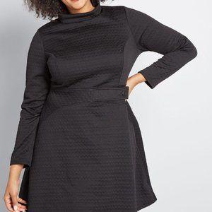 ModCloth textured black dress